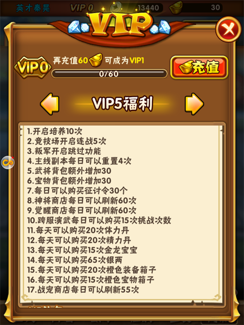 少年三国志VIP商城图6