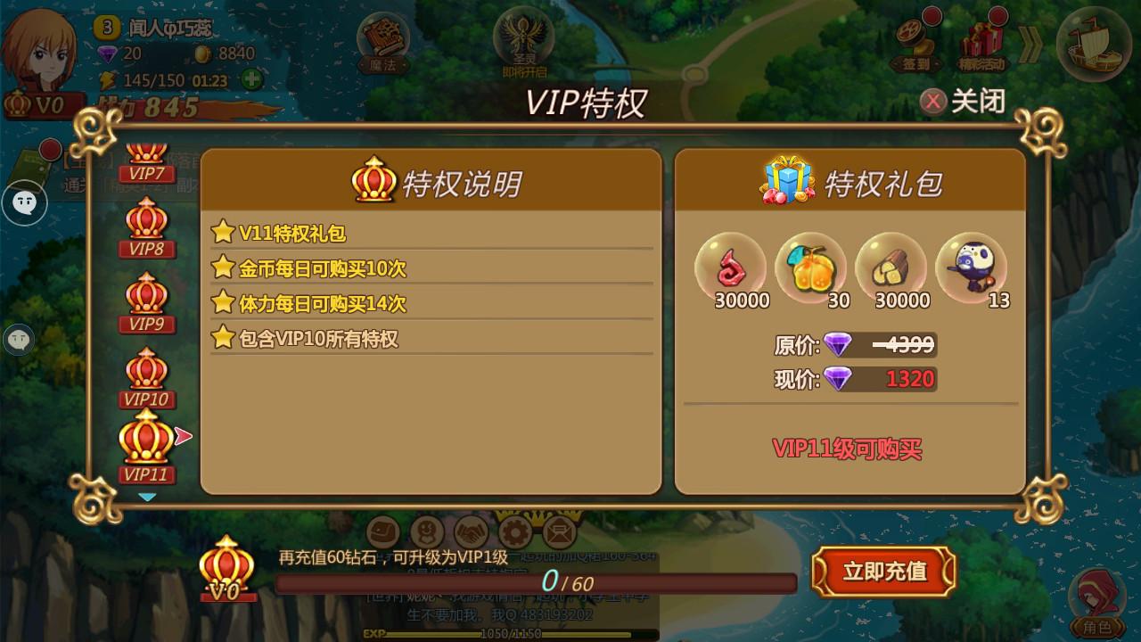 魔法与冒险VIP商城图5