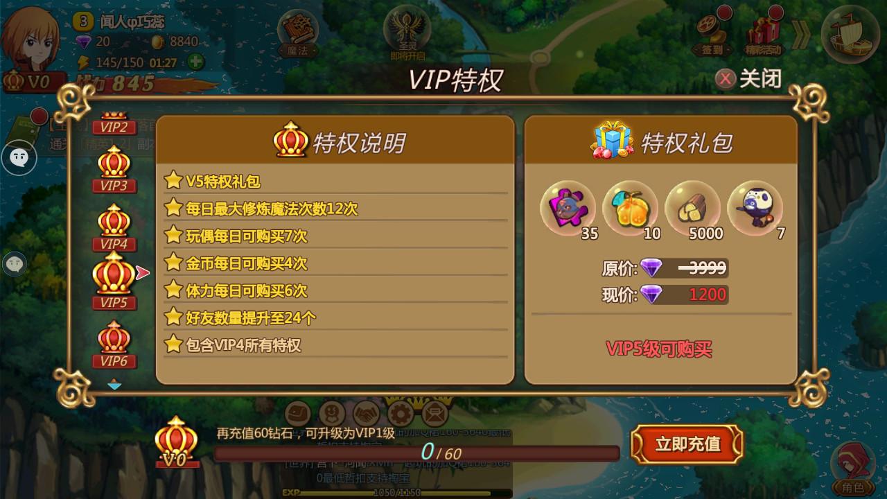 魔法与冒险VIP商城图4